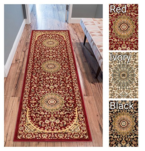 Sultan Medallion Red Oriental Area Rug 2 x 7 ( 2'3
