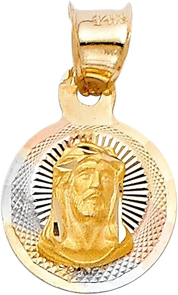 Solid Gold Jesus pendant Gold Jesus Charm 14k Solid Gold Jesus PendantCharm 14k Gold Jesus Charm for Men and Women Gold Jesus Pendant
