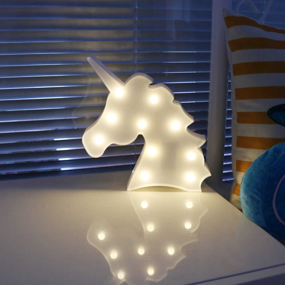 Unicorn head blue Missley Lovely Cloud LED Romantic Atmosphere LED Night Light Party Wedding Birthday Decoration Battery LED Night Light