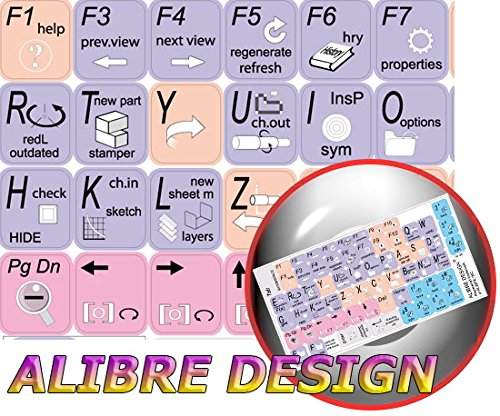 NEW ALIBRE DESIGN KEYBOARD STICKER (GRAPHIC DESIGN EDITING) FOR DESKTOP, LAPTOP AND NOTEBOOK