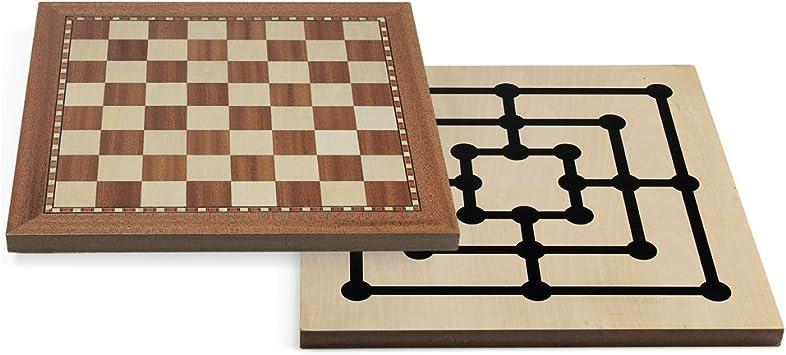 Juego - Chess-Tria, 30 x 30 cm, Mesa (ITA Toys JU00404): Amazon.es: Juguetes y juegos