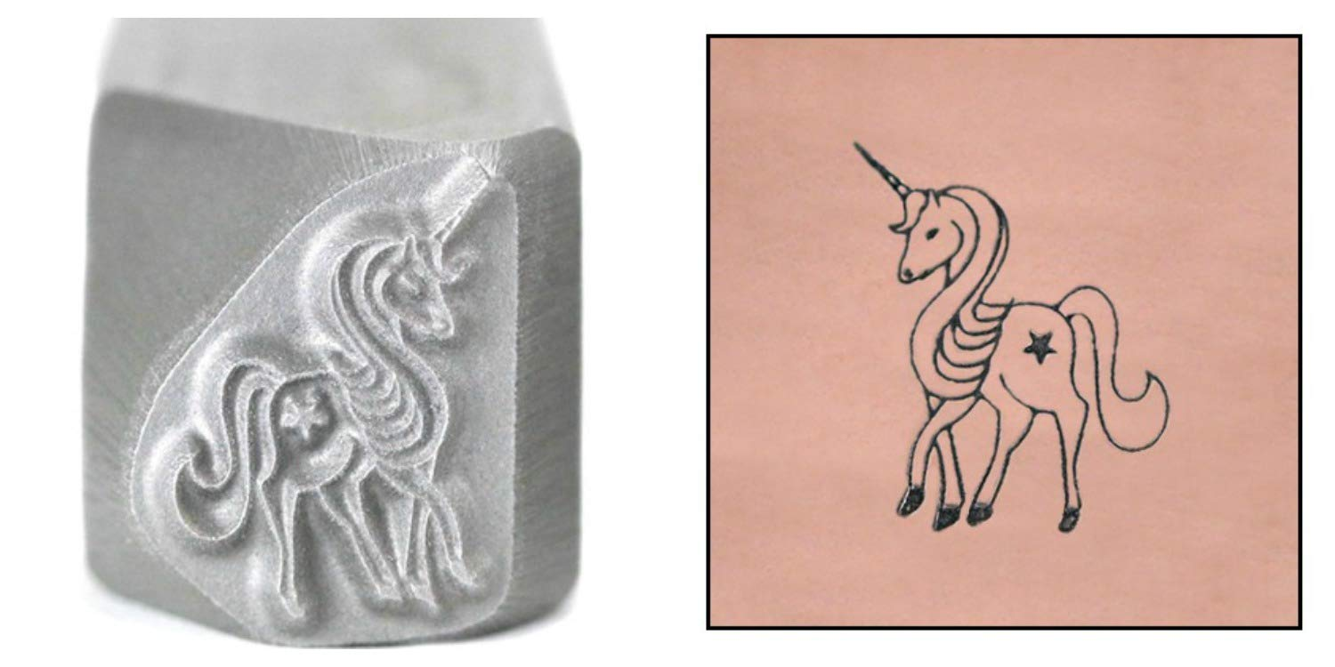 Unicorn Metal Design Stamp, 11mm Star Little Pony Punch Stamping Tool for Hand Stamped DIY Jewelry Crafts - Beaducation Original Metal Design Stamps