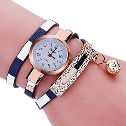 0b53208154e52 Image Unavailable. Image not available for. Color  Mosunx Women Watches  Fashion New Girl Watches Charm Wrap ...
