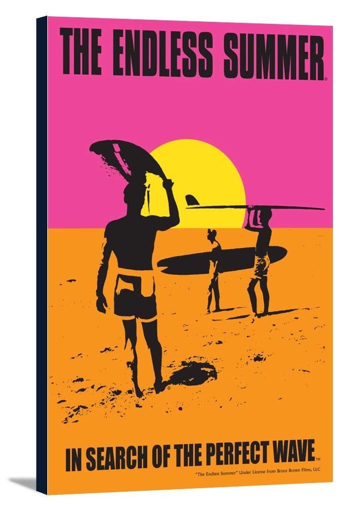The Endless Summer – オリジナル映画ポスター 24 x 36 Gallery Canvas LANT-3P-SC-49376-24x36 B0184ALZA6  24 x 36 Gallery Canvas