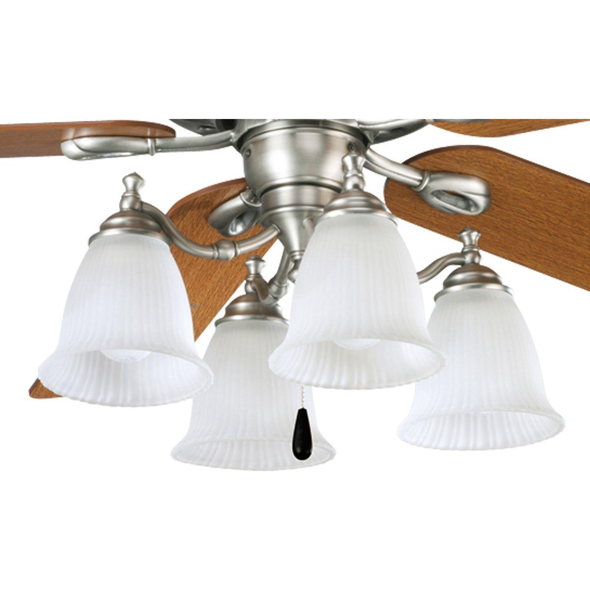 Progress Lighting P2625 81 4 Light Fan Light Kit Antique Nickel