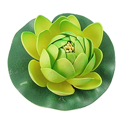 Amazoncom Jardin Float Foam Lotus Flower Lifelike Plant Decor For