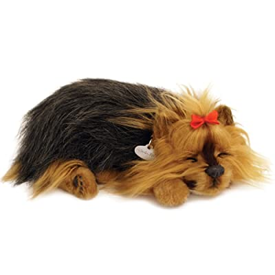 Perfect Petzzz Huggable Breathing Puppy Dog Pet Yorkie: Toys & Games