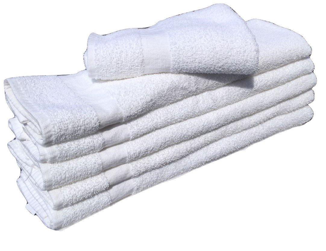 10 Dozen -120 Pcs (22''x 44'') Cotton White Hair & Bath Towel ,Super Soft, Easy Care, Ringspun Cotton Hotel-Spa-Pool-Gym Towels by Gold Textiles (120)