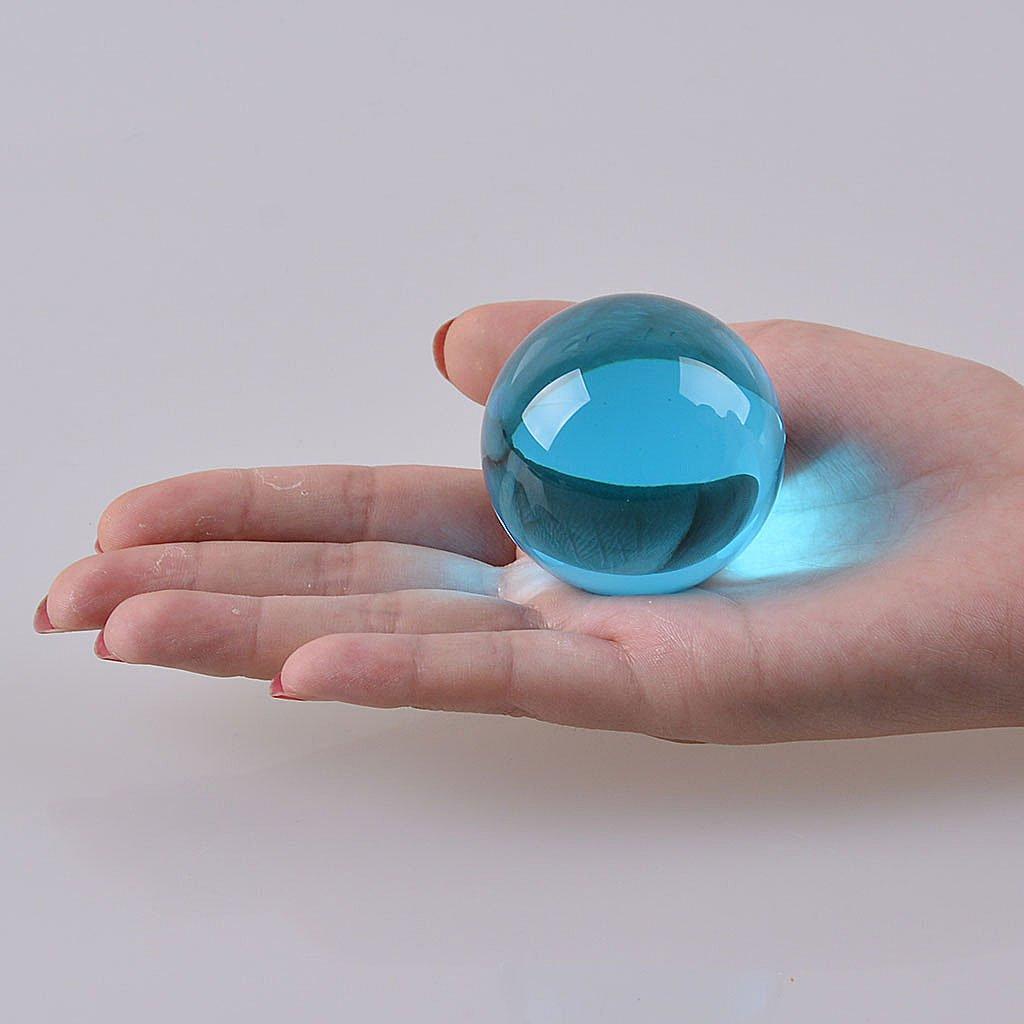 多色透明 水晶玉 50mm クリスタルボール 装飾品 (藍色) B01N6EWYEM 藍色 藍色