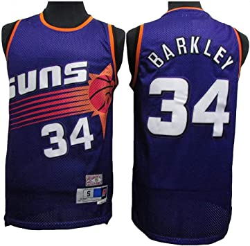 QQA NBA Masculino Camisa Deportiva de Baloncesto Phoenix Suns # 34 Charles Barkley All Star Classic Jersey de Malla Fresco Transpirable Top De Chaleco de Baloncesto Swingman: Amazon.es: Deportes y aire libre