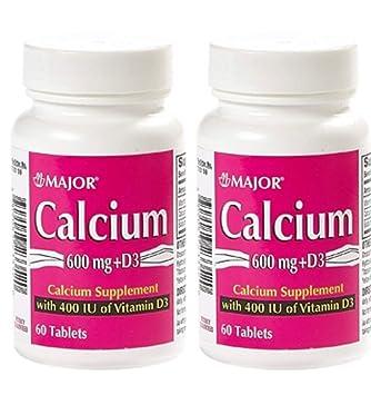 Amazon Com 2 Pack Major Calcium 600mg W D 400iu Calcium