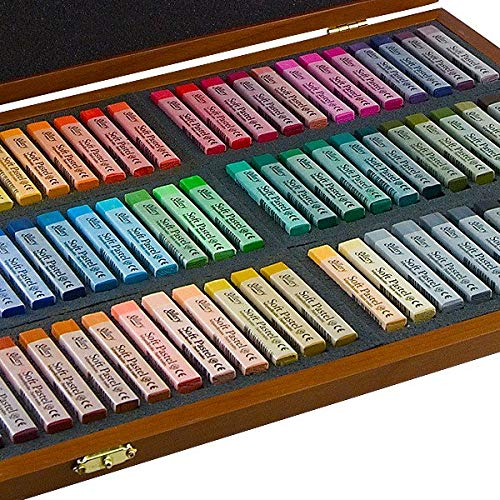 Mungyo Gallery Soft Pastel Squares Wood Box Set of 72 - Assorted Colors