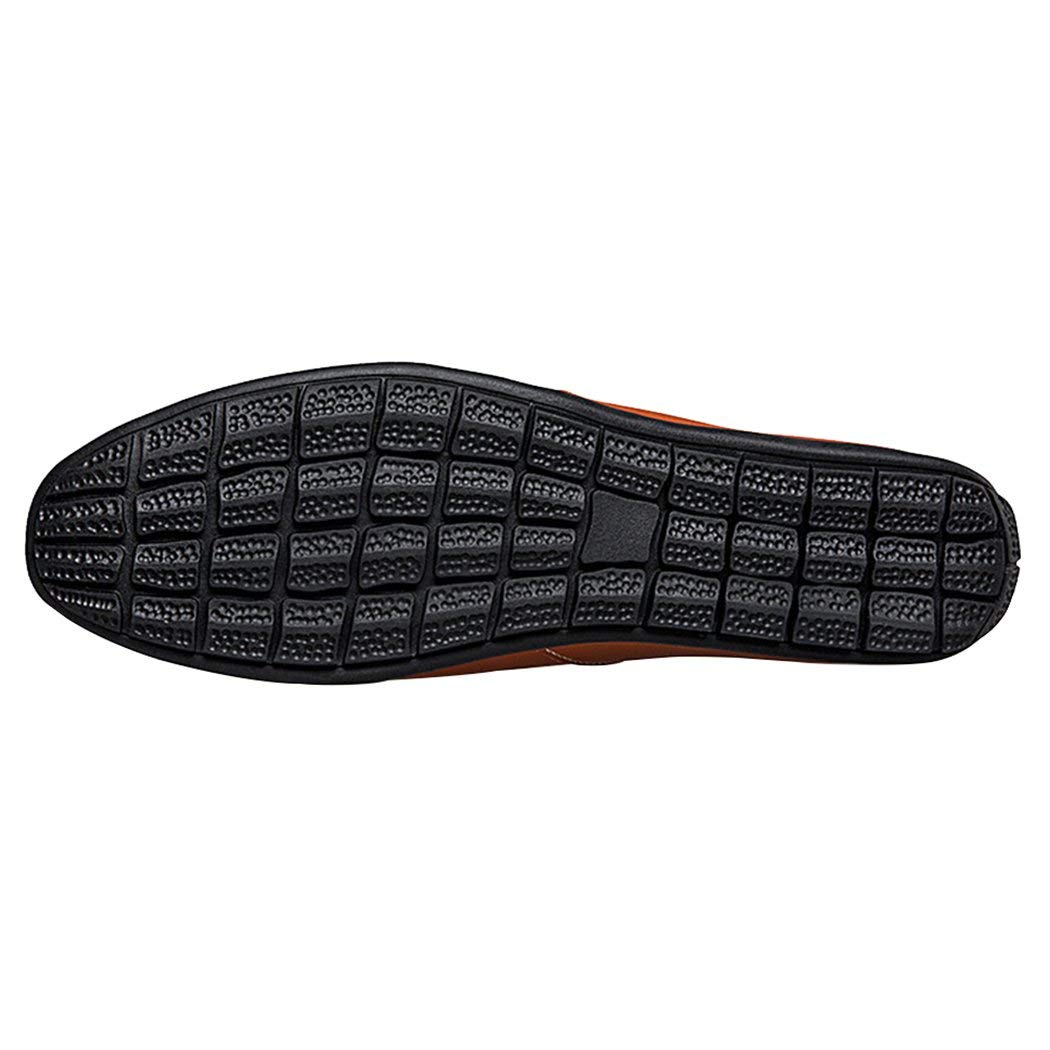 Mens Driving Shoes Premium Leather Fashion Slipper Casual Slip On Loafers Shoes