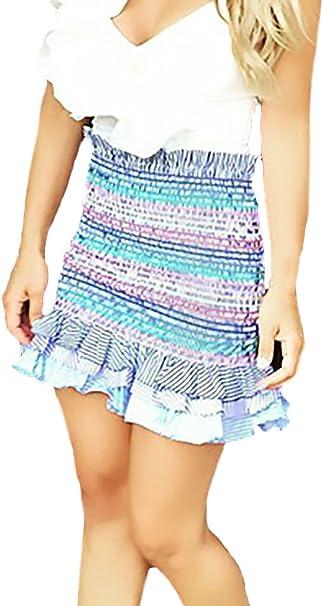 Mujer Faldas Cortas Verano Elegantes Fashion Multicolor Rayas ...
