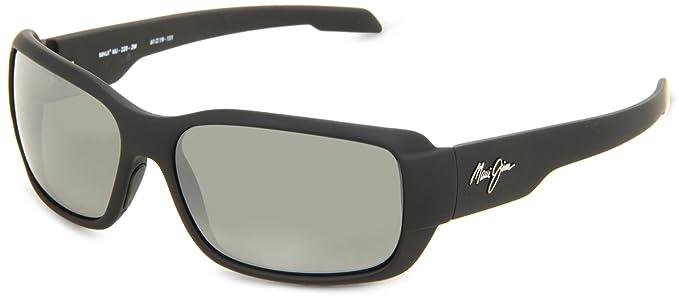 002c6f301712 Maui Jim Hamoa Beach 226-2M Polarized Rectangular Sunglasses,Matte Black  Rubber Frame/