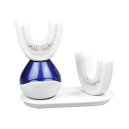 Cepillo De Dientes Sonic Recargable IPX7 Impermeable Perezosos Cepillo Eléctrico Inalámbrico 360 Grado U Limpio Forma