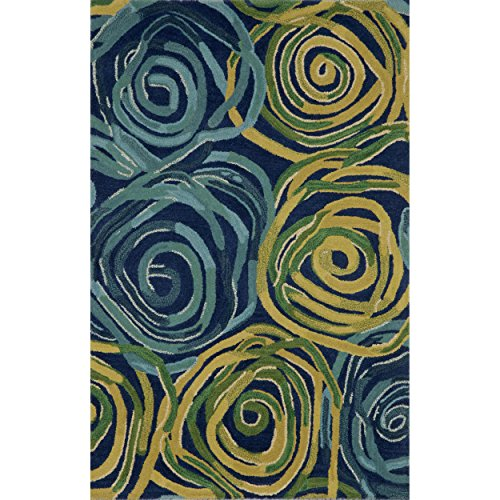 Liora Manne Tivoli Rambling Rose Indoor Rug Navy 42