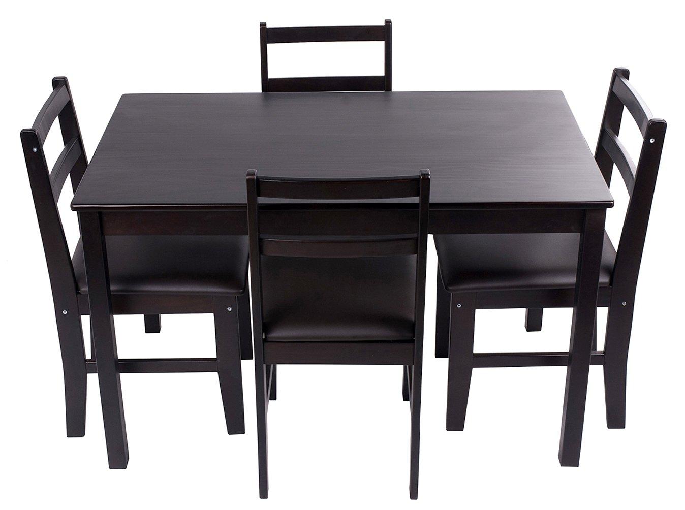 Merax 47'' Rectangular Dinning Table in Dark Espresso 100% New Zealand Pine Wood Finish by Merax (Image #5)