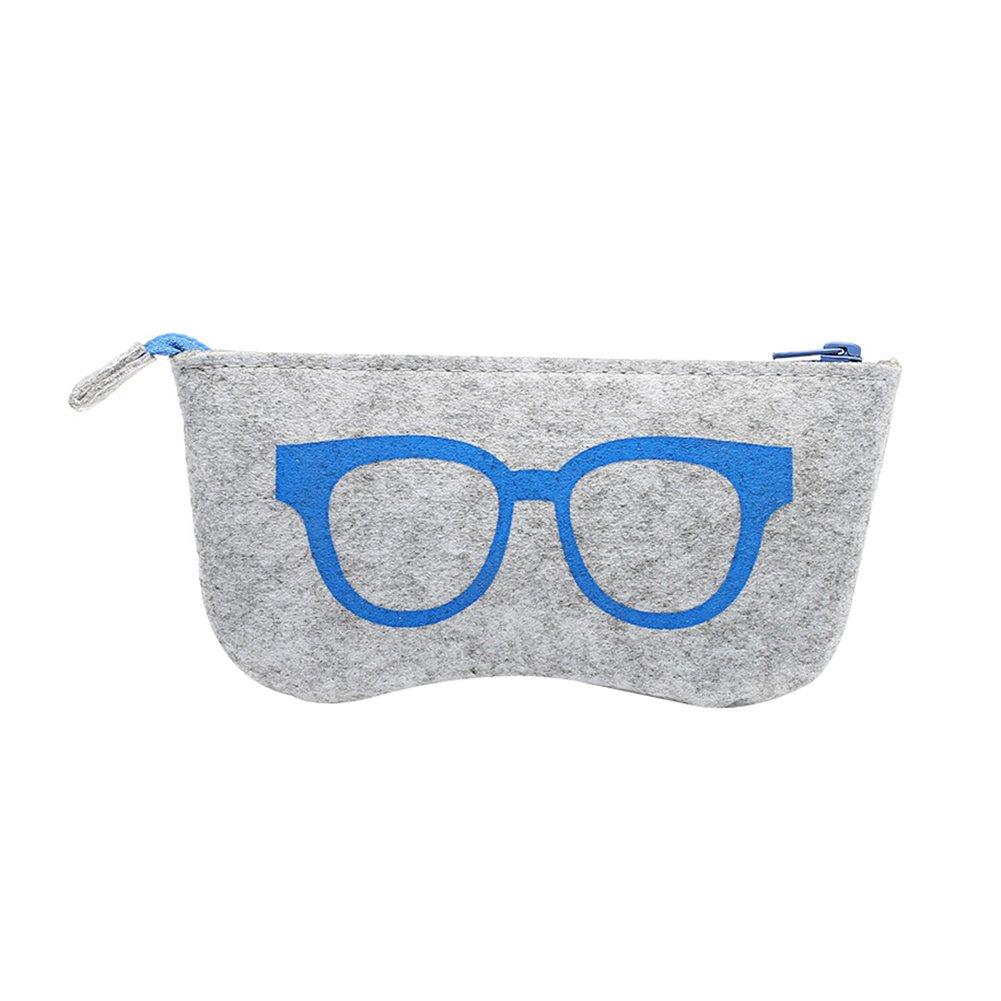 ZHOUBA Wool Felt Women Glasses Eyewear Zipper Bag Storage Case Sunglasses Box Portable