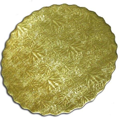 Enjayラウンドゴールドエンボススカラップ厚紙Bakeryケーキボード 10