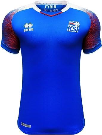 Errea Island Home Heim WM 2018 Camiseta de fútbol. Hombre: Amazon.es: Ropa y accesorios