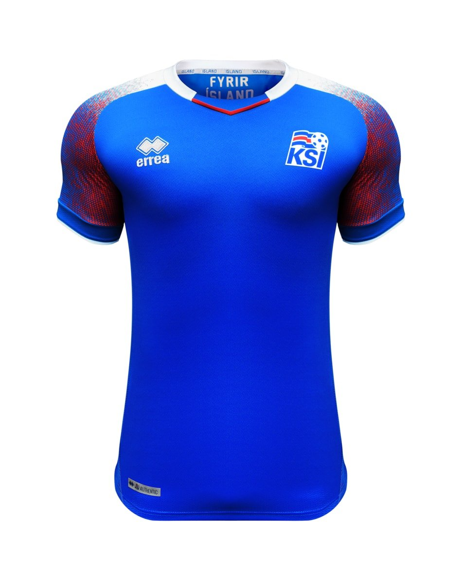 2018-2019 Iceland Home Errea Football Shirt B07BHK79BC XL Boys|Blue Blue XL Boys