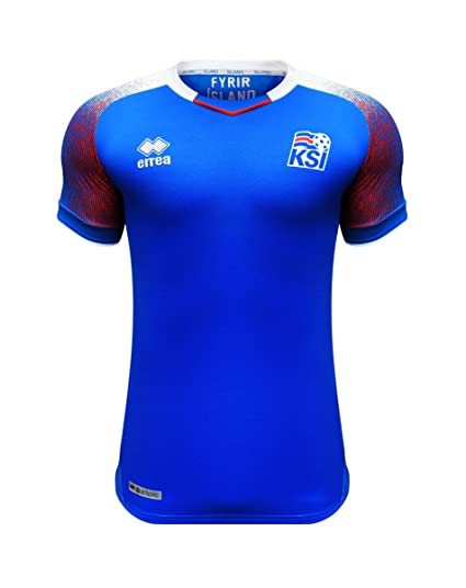 e1436dd75aa Amazon.com   Errea Iceland World Cup 2018 Official Home Jersey ...