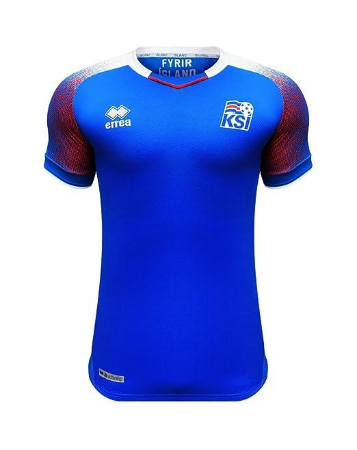 huge selection of d3169 faa02 Errea Men's Iceland Home World Cup 2018 Russia Football Shirt