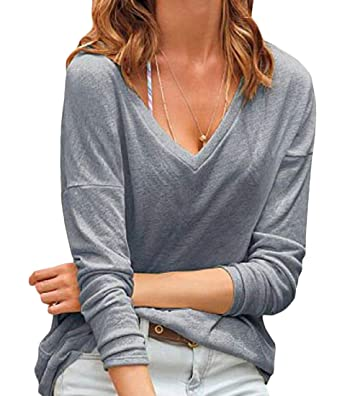 Fashion Women Pure Color Cotton Casual Top T Shirt Ladies Long Sleeve Blouse New