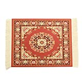 CoCocina 11''x7'' Persian Style Mini Woven Rug Mouse Pad Carpet Mousemat With Fringe