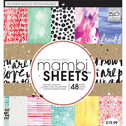Me & My Big Ideas Paint Palette Mambi Sheets, 12 by 12-Inch by Me & My Big Ideas