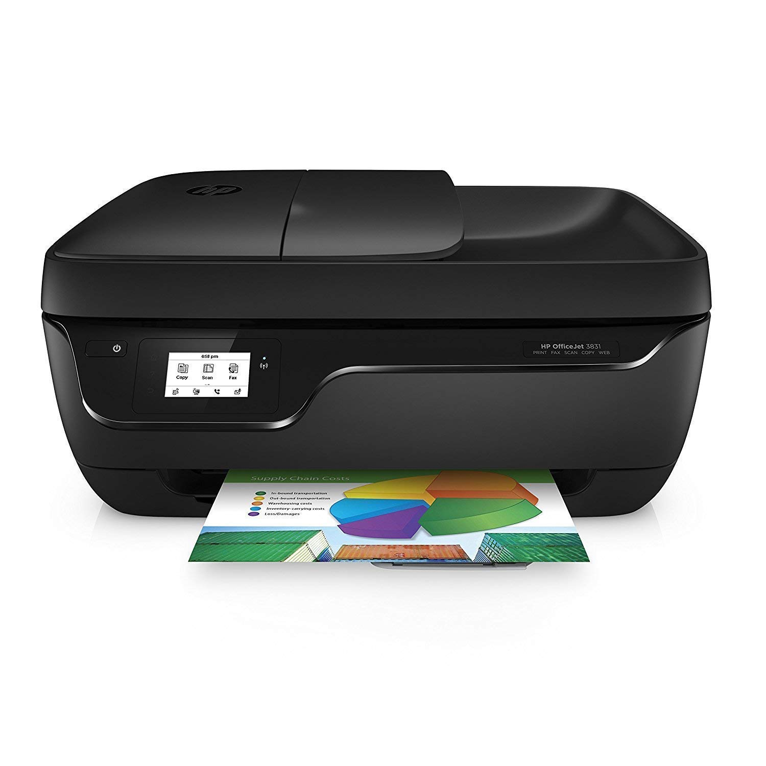 HP OfficeJet 3831, Impresora multifunción de tinta (WiFi, 512 MB ...
