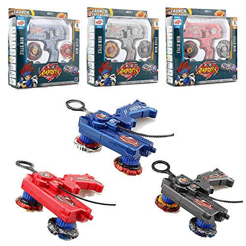 Rare 4D Launcher Kids Grip Beyblade Set Metal Master Fusion Top Rapidity Fight by Unknown