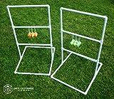 Get Outside Games Texas Toss - 5 ft Tall Ladder Ball Toss / Ladder Golf Game (Blue & Green Ball Kit)