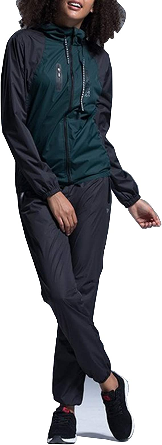 YHZQ Damen Gymnastik Kleidung Set, Sauna Sweat Anzug Für