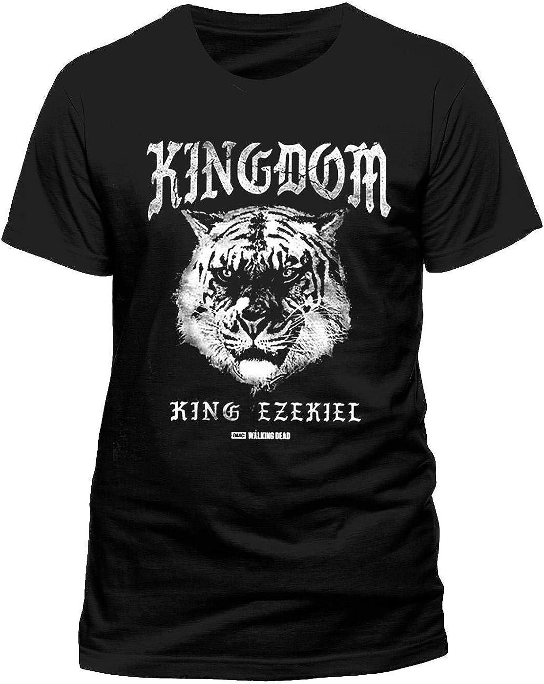 The Walking Dead - King Ezekiel Kingdom (Shiva) - Oficial Camiseta para Hombre - Negro, L: Amazon.es: Ropa y accesorios