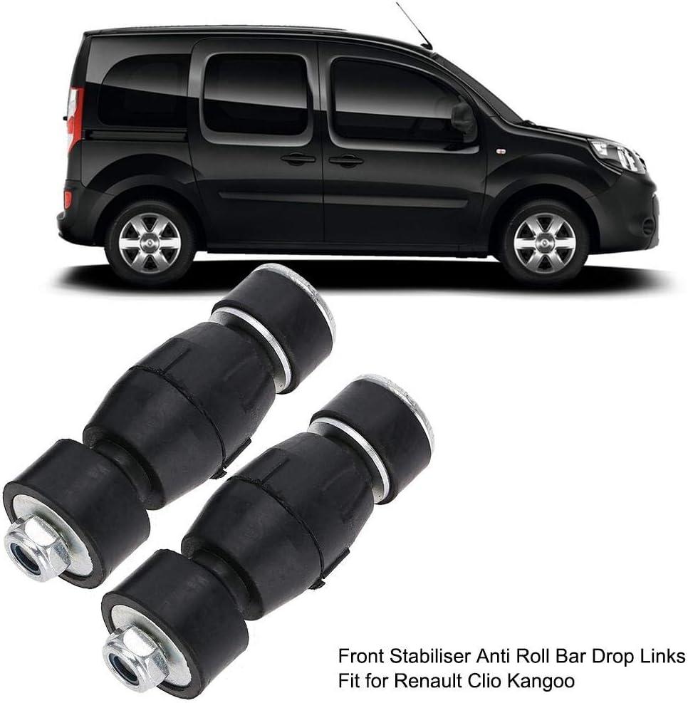 Yinhing Enlace del estabilizador 1 par de Enlaces estabilizadores de Barra estabilizadora Delantera estabilizadora Delantera para Renault Clio Kangoo 7700799404