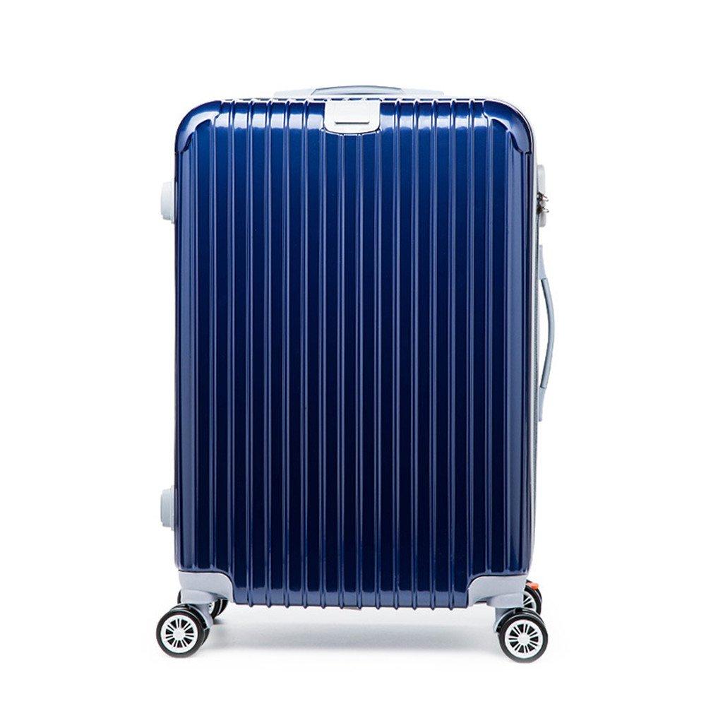 プレミアム回転22/26インチプルロッドボックスユニバーサルホイール男性と女性の荷物高品質スーツケースジッパーパスワードボックスハードケース。 耐摩耗輸送ボックス (サイズ : 24) B07S1S2D7K  24