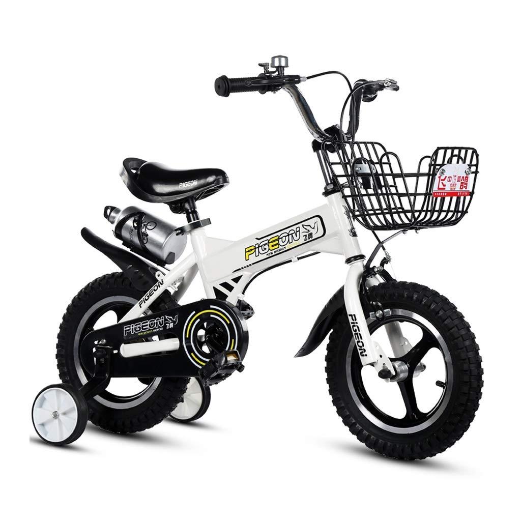 azul LCM Bicicletas para niños Bicicletas para niños 12,14,16 Pulgadas Bicicletas 2-3-4-6-7-8 años Bicicleta de Bicicleta para niños Regalo para niños (Color   azul, Talla   12INCHES) 12INCHES
