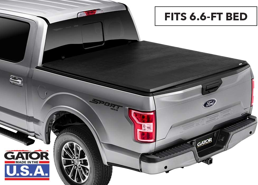 Gator ETX Soft Tri-Fold Truck Bed Tonneau Cover 59503 Without Rail System fits Nissan Titan 2004-15 6 1//2 ft Bed