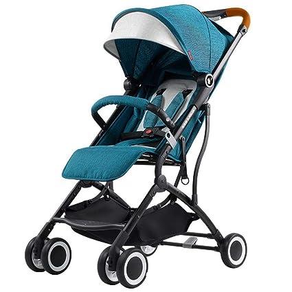 Olydmsky Carro Bebe,Ligero Descanso Paraguas Coche Plegable niño Carro Cuatro Ruedas Cochecito de bebé