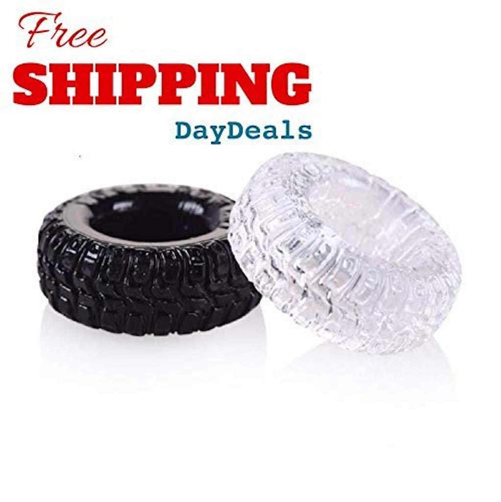 Men's Set of 2 Silicone Tire Enhancer Prolong Delay Shaft Rings