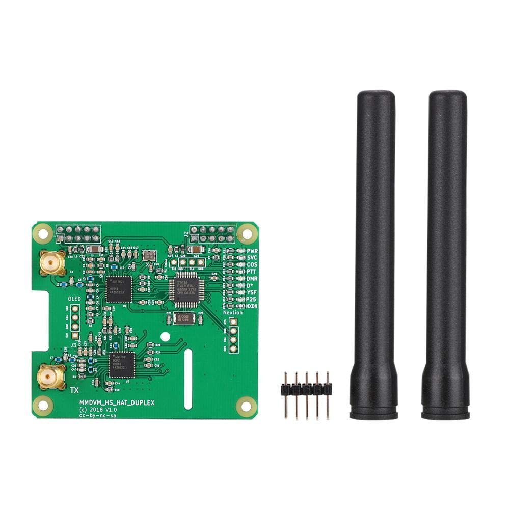 Taidda Duplex Hotspot, Sturdy Durable Duplex MMDVM Hotspot Support P25 for D MR YSF for Raspberry Pi with 2pcs Antenna by Taidda