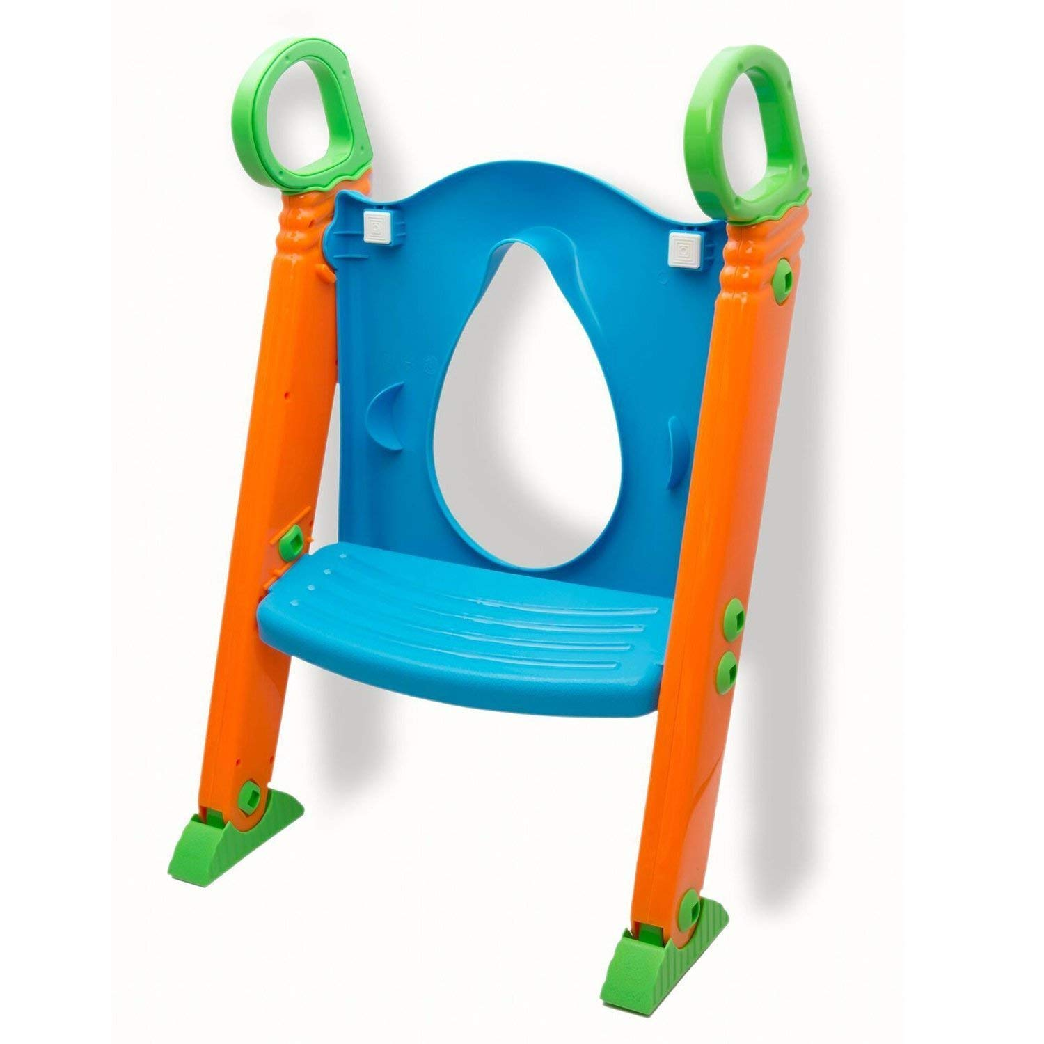 Potty Toilet Seat with Step Stool ladder, (3 in 1) Trainer for Kids Toddlers W/ Handles. Sturdy, Comfortable, Safe, Built In Non-Slip Steps W/ Anti-Slip Pads. Excellent Potty Seat Step Boys Girls Baby by Alayna (Image #5)