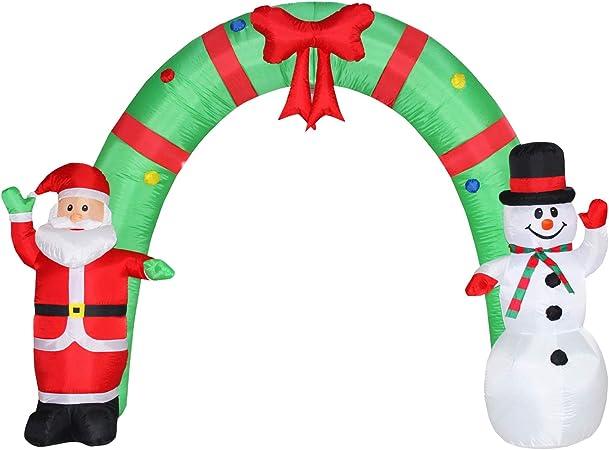 Amazon.com: Poptrend - Arco de Navidad inflable de 8 pies ...