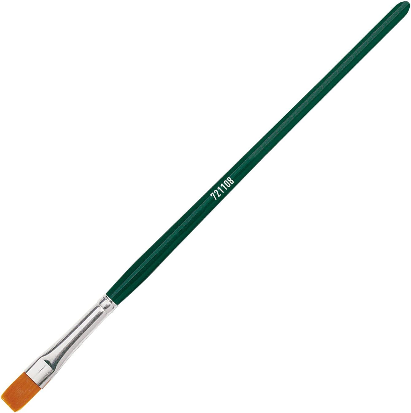 Universalpinsel Basic Synthetics Gr/ö/ße 8 flach Besatz aus feinem Nylonhaar f/ür Kunst Kreul 721108 Hobby Schule und Gro/ßverbraucher