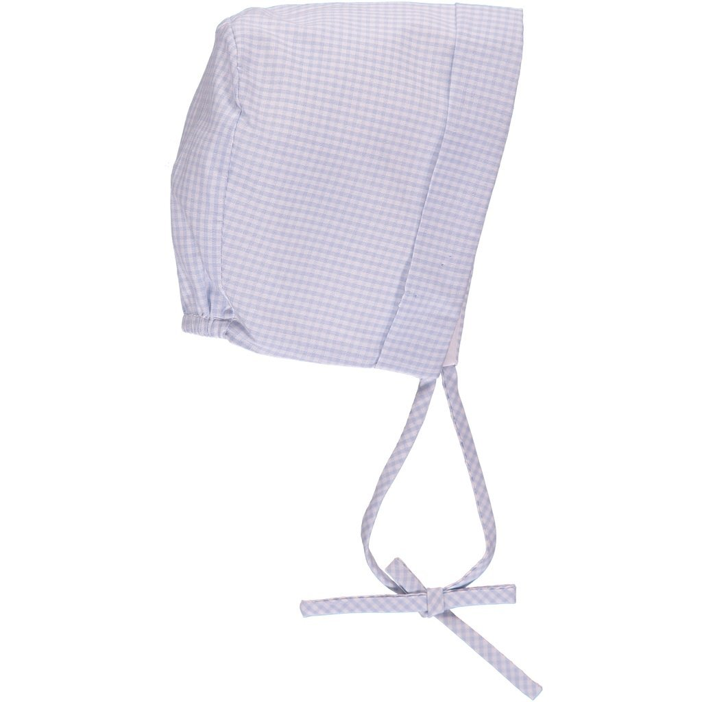 Blue Gingham Carriage Boutique Baby Boy Creeper Romper w Matching Hat