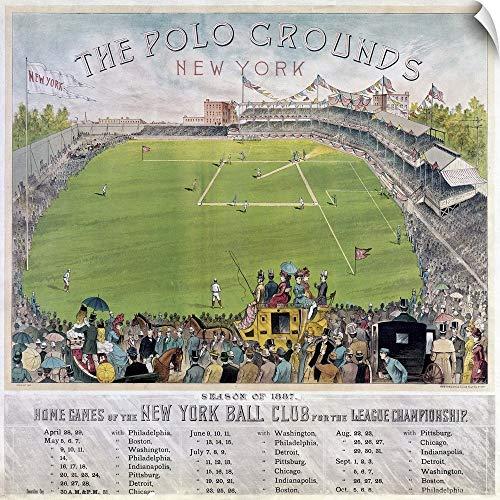 (CANVAS ON DEMAND Baseball, 1887. The Polo Grounds in Upper Manhattan, New York Wall Peel Art Print, 48