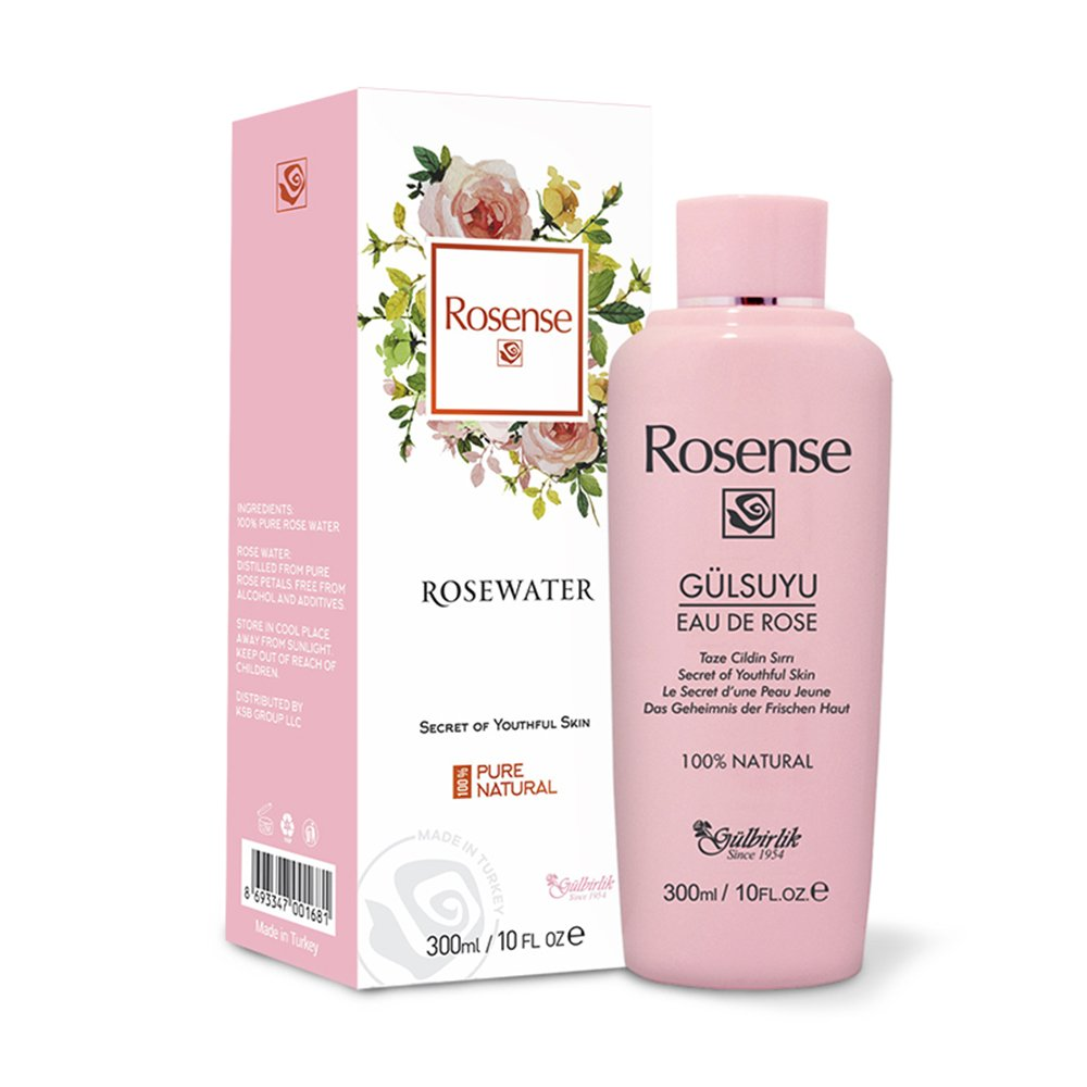 100% Pure Natural Vegan Turkish Rosewater 300ml/10 oz Hydrating Rose Water Face Toner (No Additives, No Chemicals, No Preservatives)