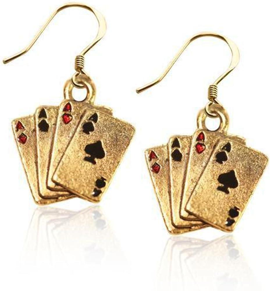 Casino earrings betting gambling golf sports spread